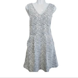Tabitha | Quilted Floral White Black Dress 12